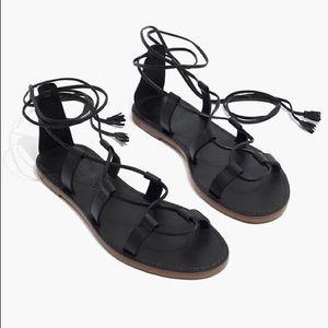 NWOT MADEWELL Boardwalk Lace-up Sandal 10!